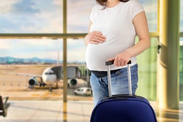 Phụ nữ mang thai không nên đi máy bay