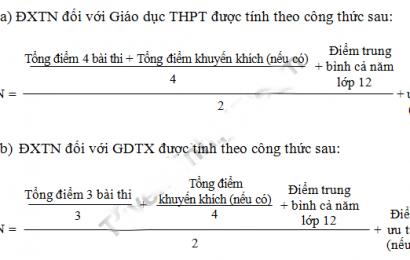Cách tính điểm tốt nghiệp THPTQG 2018 và các mốc thời gian thí sinh cần phải nhớ